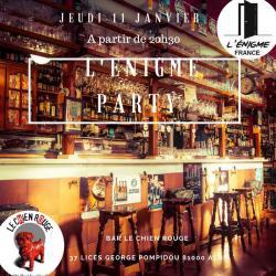 Soirée L'Enigme Party le 11 janvier à Albi au Bar le Chien Rouge