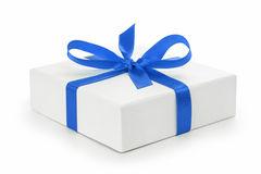 Bote cadeau texturis blanc avec l arc de ruban bleu 33415800